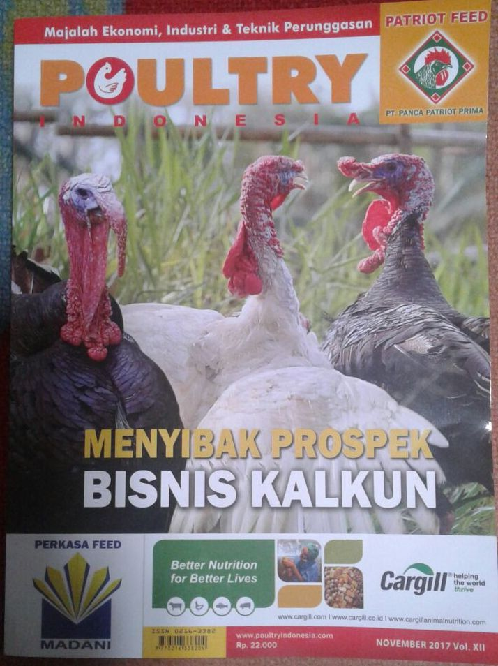 hobiternak.com Mendapat Kesempatan untuk di Liput oleh Majalah Poultry Indonesia dalam Mengenal Kalkun si Unggas Tambun