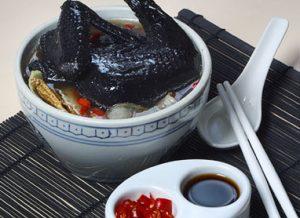 Black chicken soup HOBI TERNAK Ayam Cemani word1