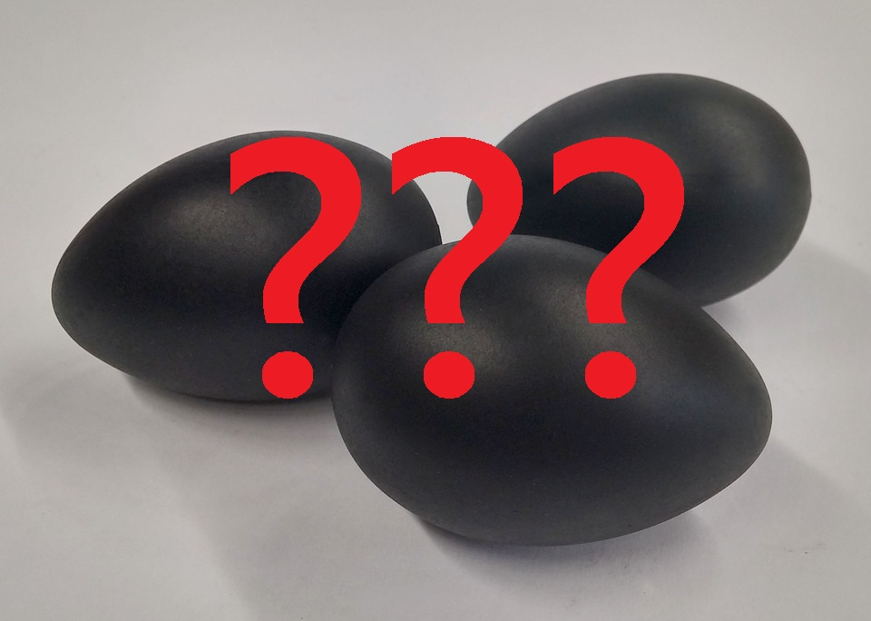 The picture of black chicken eggs, which is still a question of its truth.
