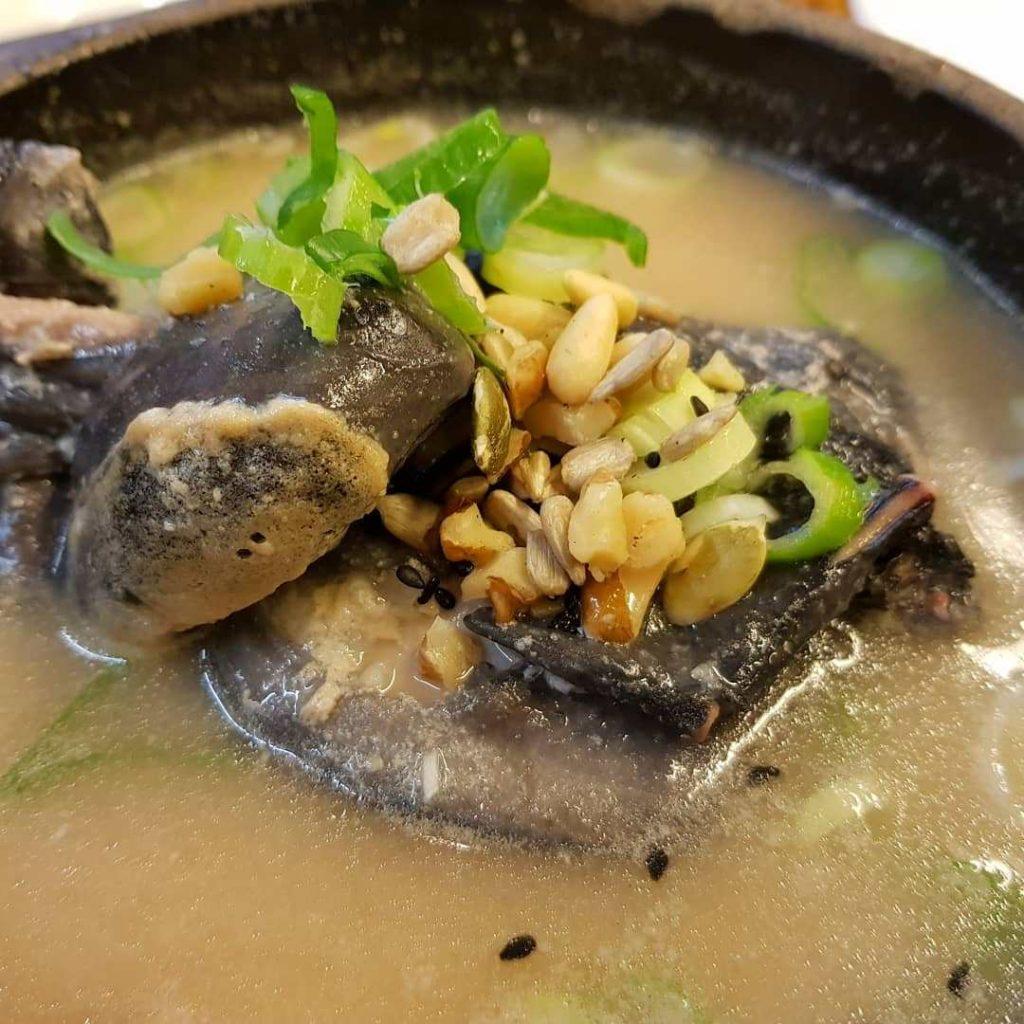 Korean cemani black soup