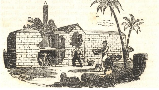 Salah satu contoh ilustrasi tempat inkubator pada zaman Mesir Kuno