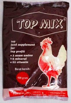 Penggunaan top mix bisa untuk melengkapi ransum pakan ayam KUB. | biggo.biz.id